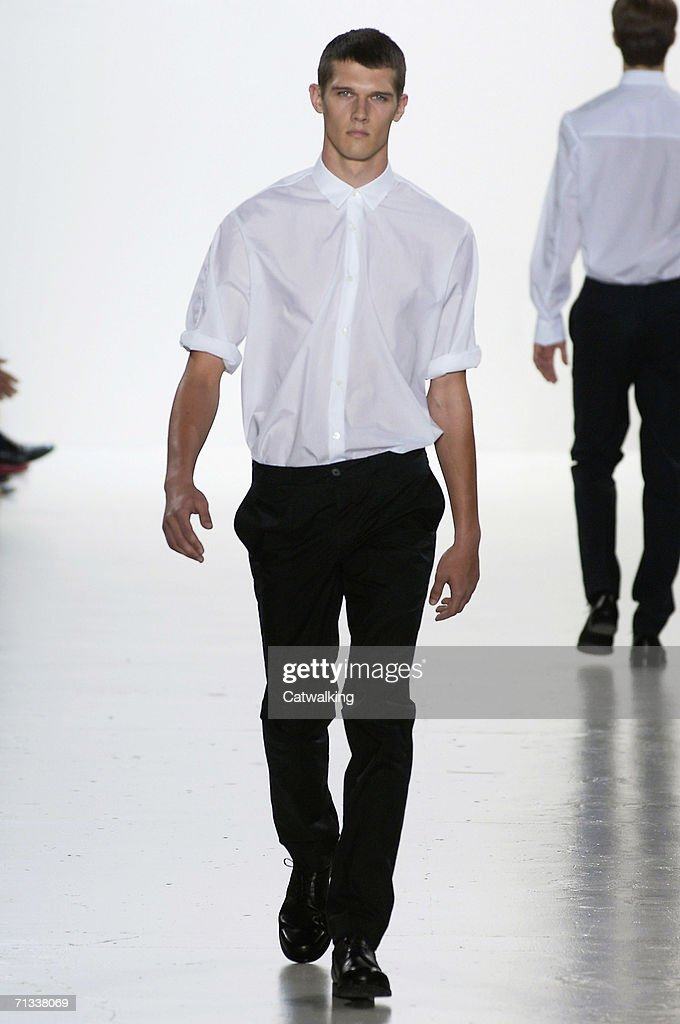 cc700103b Model walks down the runway at the Jil Sander show as part of Milan ...