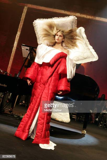 A model walks down the runway at the Viktor Rolf fashion show as part of Paris Fashion Week Ready To Wear Autumm/Winter 2006 on March 2 2005 in Paris...