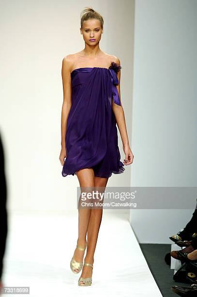 A model walks down the runway during the Ben Di Lisi fashion show at London Fashion Week on February 11 2007 in London