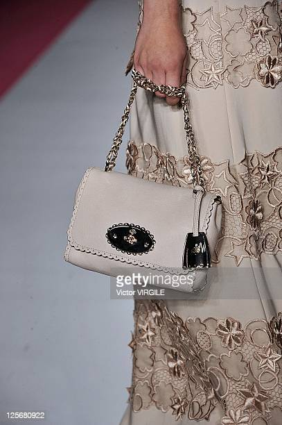 A model walks down the runway during the Mulberry show at London Fashion Week Spring/Summer 2012 on September 19 2011 in London United Kingdom