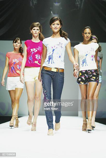 A model walks down the runway during the Ready To Wear Show to showcase the Collection of Bec and Bridge in the Harbour Room at the Overseas...