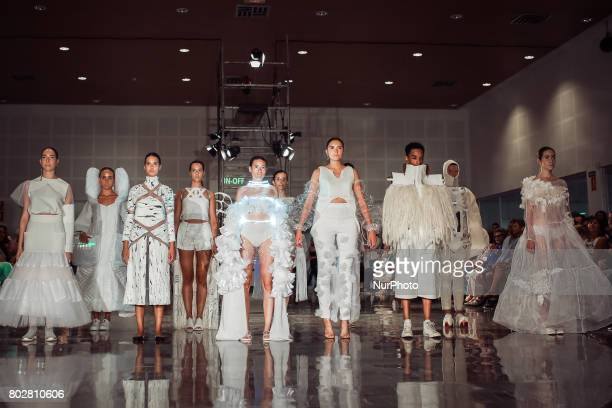 Model walks during 'Move On Off' fashion show in Sevilla, Spain, on June 27, 2017.