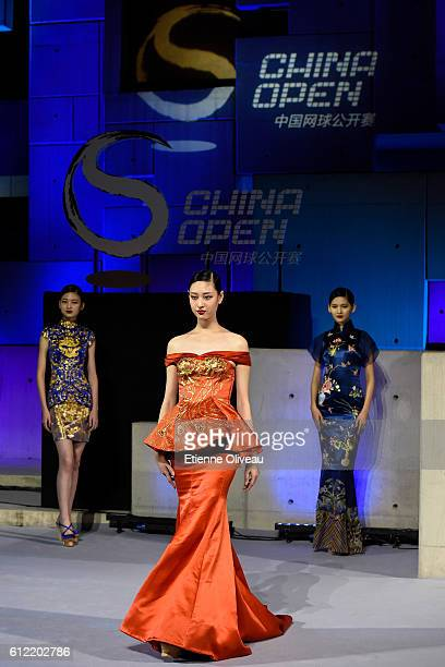 A model walks during the 2016 China Open Player Party at The Birds Nest on October 3 2016 in Beijing China
