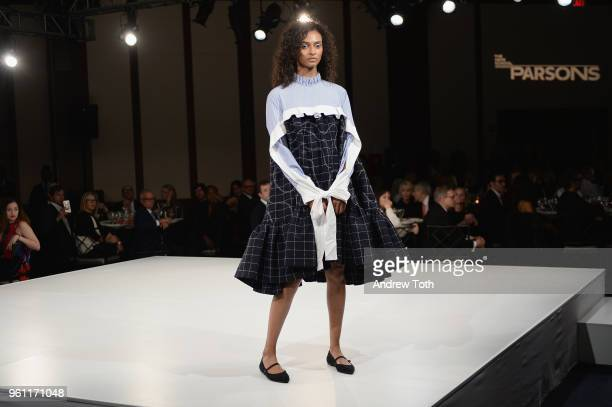 A model walks during the 70th Annual Parsons Benefit on May 21 2018 in New York City