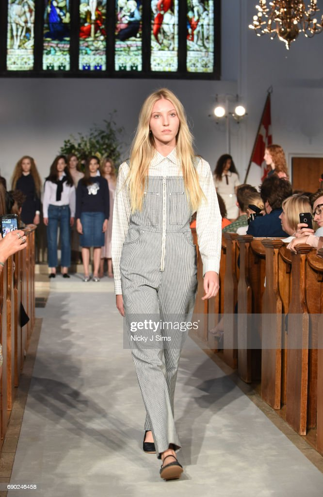 A model walks during the ALEXACHUNG London Launch and Collection Reveal on May 30, 2017 in London, England.