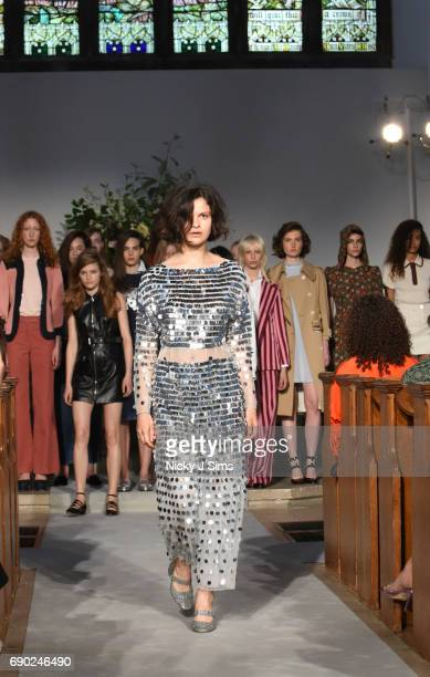 A model walks during the ALEXACHUNG London Launch and Collection Reveal on May 30 2017 in London England