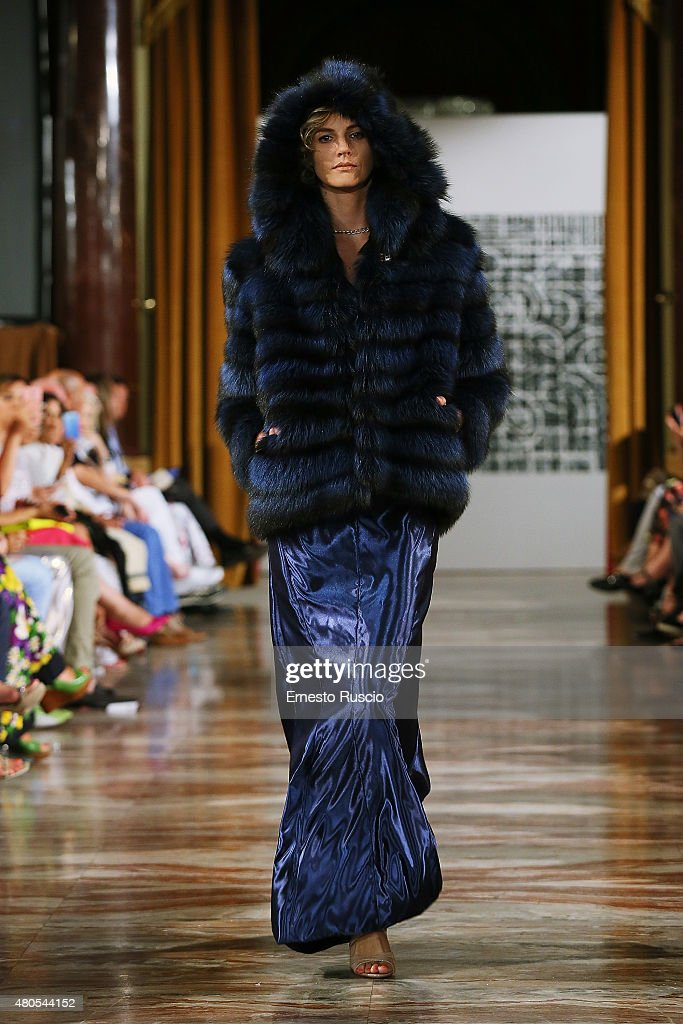 A model walks during the Tahm Couture fashion show, as a part of AltaRoma AltaModa Fashion Week Fall/Winter 2015/16 at ST Regis Hotel on July 12, 2015 in Rome, Italy.