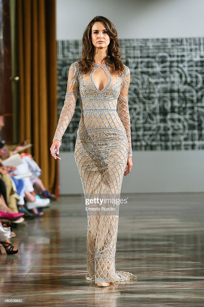 A model walks during the Toufic Hatab fashion show, as a part of AltaRoma AltaModa Fashion Week Fall/Winter 2015/16 at ST Regis Hotel on July 12, 2015 in Rome, Italy.