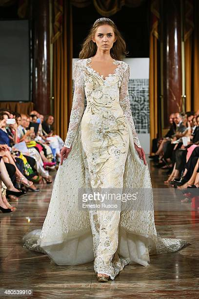 A model walks during the Toufic Hatab fashion show as a part of AltaRoma AltaModa Fashion Week Fall/Winter 2015/16 at ST Regis Hotel on July 12 2015...