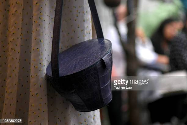 A model walks for the Staud Presentation during New York Fashion Week The Shows at Laudree on September 12 2018 in New York City