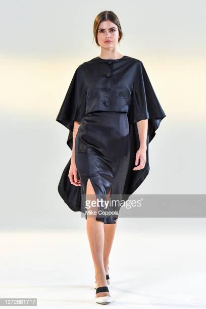 Model walks for the Vivienne Hu Spring/Summer 2021 New York Fashion Week Runway Show at Spring Studios on September 15, 2020 in New York City.