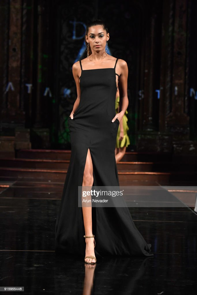 A model walks in the Datari Austin presentation at New York Fashion Week Powered by Art Hearts Fashion NYFW at The Angel Orensanz Foundation on February 8, 2018 in New York City.