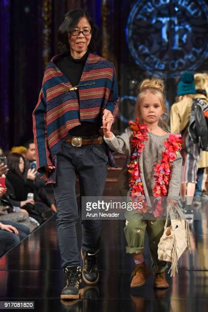 A model walks in the Trico Field presentation with the designer during New York Fashion Week Powered by Art Hearts Fashion NYFW at The Angel Orensanz...