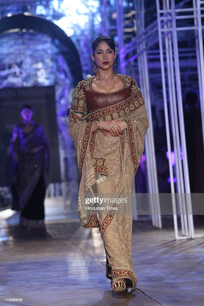 A Model Walks On Ramp For Indian Fashion Designer Tarun Tahiliani On News Photo Getty Images