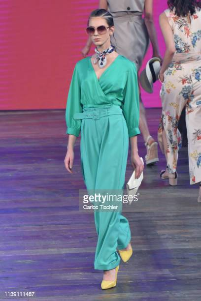 A model walks on runway as part of the Spring/Summer Liverpool Fashion Fest 2019 on March 28 2019 in Mexico City Mexico