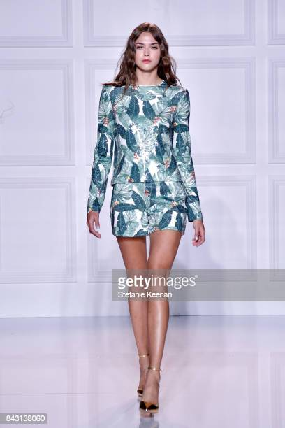 A model walks on runway at Rachel Zoe SS18 Presentation at Sunset Tower Hotel on September 5 2017 in West Hollywood California