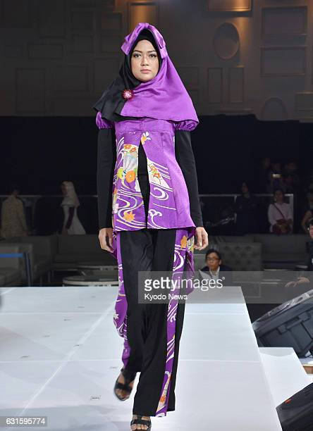A model walks on the runway at Tokyo Girls Collection in Jakarta on Jan 12 the first time such a Japanese fashion show has taken place in Indonesia