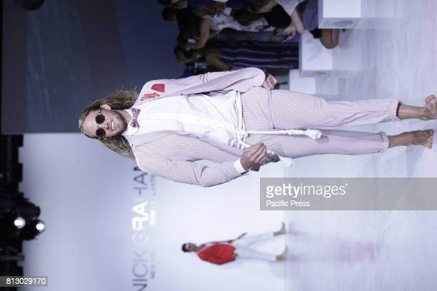 A model walks on the runway during the Nick Graham Spring/Summer 2018 show during New York Fashion Week at Skylight Clarkson Square NYC