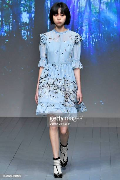 A model walks runway at the Bora Aksu Ready to Wear Spring/Summer 2019 fashion how during London Fashion Week September 2018 on September 14 2018 in...
