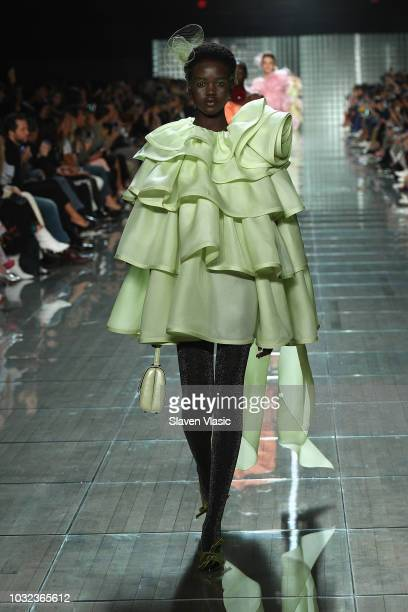 A model walks runway at the Marc Jacobs Spring 2019 Runway during New York Fashion Week The Shows at Park Avenue Armory on September 12 2018 in New...