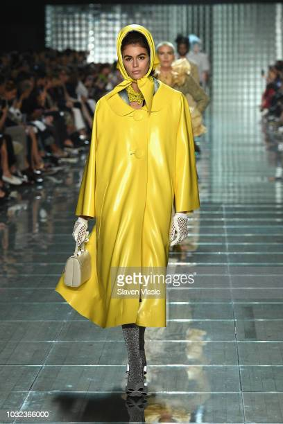 Model walks runway at the Marc Jacobs Spring 2019 Runway during New York Fashion Week: The Shows at Park Avenue Armory on September 12, 2018 in New...