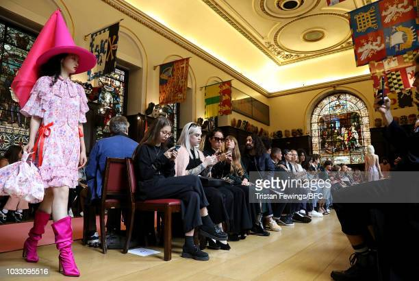 A model walks runway at the Ryan LO Show during London Fashion Week September 2018 at Stationers Hall on September 14 2018 in London England