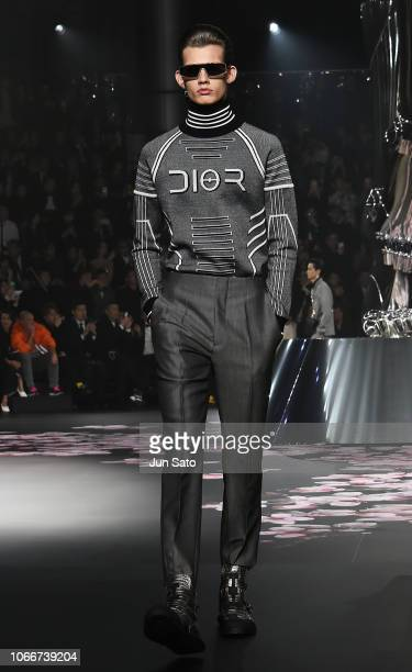 A model walks runway during the Dior PreFall 2019 Men's Collection show on November 30 2018 in Tokyo Japan