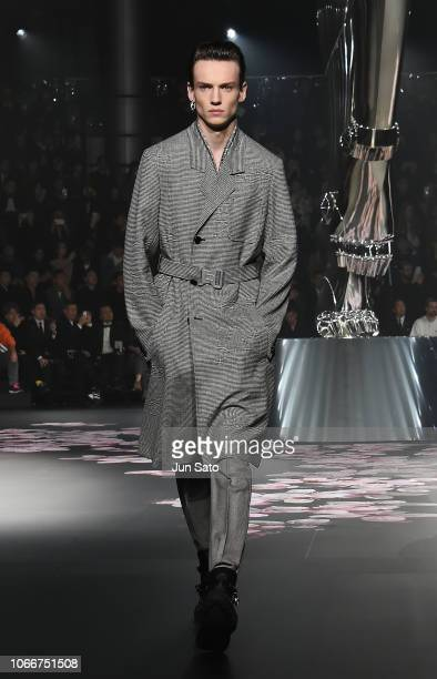 Model walks runway during the Dior Pre-Fall 2019 Men's Collection show on November 30, 2018 in Tokyo, Japan.