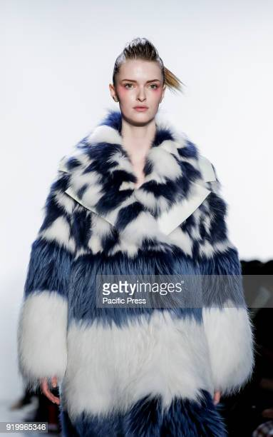 A model walks runway for Son Jung Wan Fall/Winter 2018 runway show during NY Fashion Week at Spring Studios Manhattan