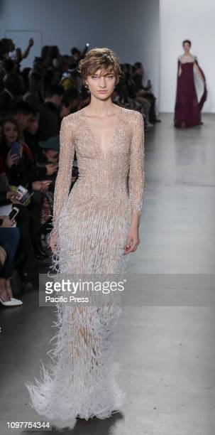 A model walks runway for the Pamella Roland Fall/Winter 2019 collection during New York Fashion Week at Pier 59 Studuos Manhattan