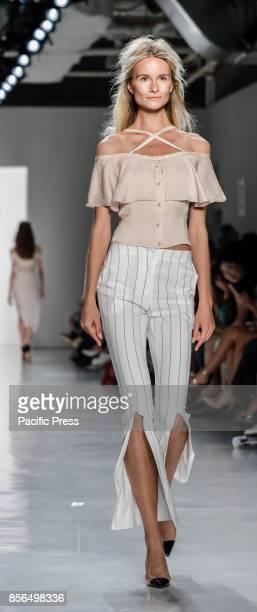A model walks runway for the Vivienne Hu Spring/Summer 2018 runway show during New York Fashion Week at Skylight Clarkson Sq Manhattan