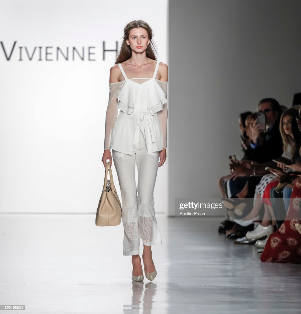 A model walks runway for the Vivienne Hu Spring/Summer 2018... : News Photo