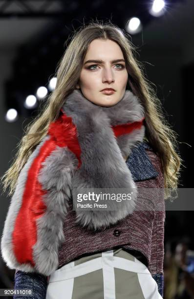 A model walks runway for Vivienne Hu Fall/Winter 2018 runway show during NY Fashion Week