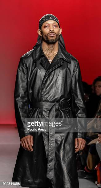 A model walks runway for Willy Chavarria Fall/Winter 2018 runway show during NY Fashion Week for men at Pier 59 Studios
