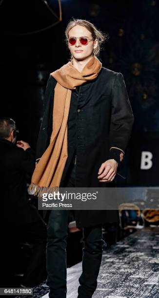A model walks runway rehearsal for John Varvatos FW17 runway show during NY Fashion Week Men's at Paramaunt Hotel Manhattan