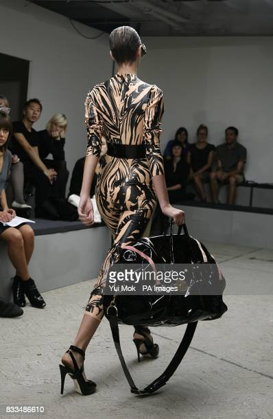 Model walks the catwalk at the Danielle Scutt Show at the New Generation venue, Victoria House, Bloomsbury Square, WC1.