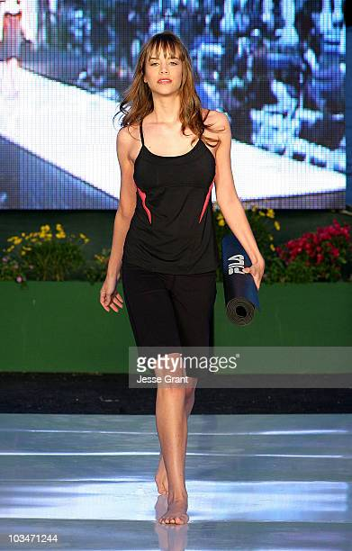 A model walks the catwalk at the Desert Fashions by Fila and Trina Turk fashion show at the Indian Wells Tennis Garden on March 15 2008 in Indian...