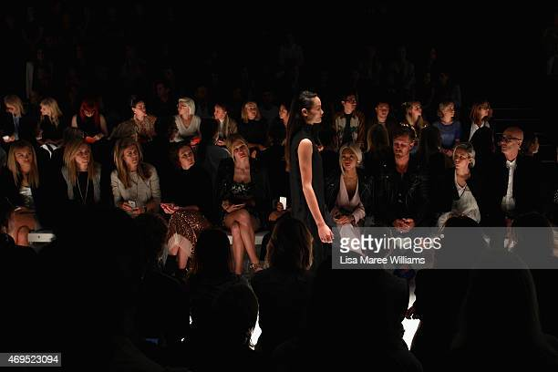 A model walks the catwalk at the Tome show at MercedesBenz Fashion Week Australia 2015 at Carriageworks on April 13 2015 in Sydney Australia