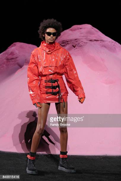 A model walks the catwalk during the Fenty Puma By Rihanna Runway show in September 2017 New York Fashion Week on September 10 2017 in New York City