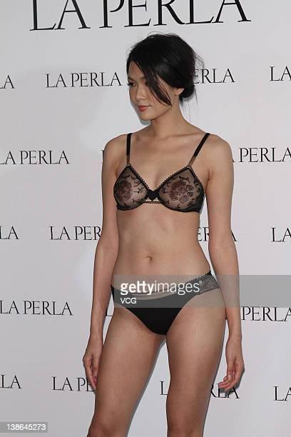 e2d0fcc0c3 A model walks the catwalk during the La Perla lingerie fashion show on  February 8 2012