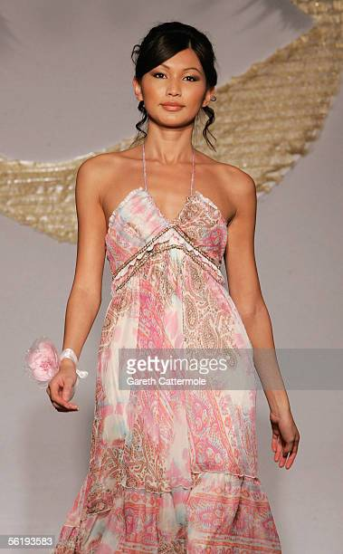 A model walks the catwalk wearing the spring/summer 2006 collection for high street store Morgan at the fashion show launching the new collection at...