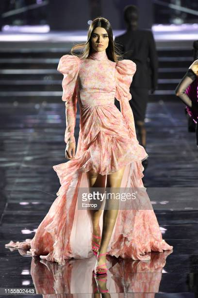 A model walks the CR Runway x LuisaViaRoma at Piazzale Michelangelo during the Pitti Immagine Uomo 96 on June 13 2019 in Florence Italy