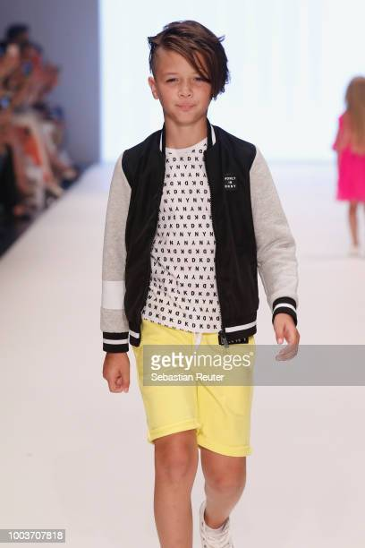 Models walk the Kids Fashion show during Platform Fashion July 2018 at Areal Boehler on July 22 2018 in Duesseldorf Germany