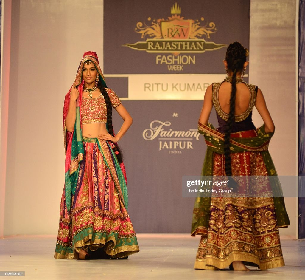 A Model Walks The Ramp For Designer Ritu Kumar During The Rajasthan