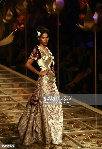 Model walks the ramp in a Rohit Bal's collection at the Wills Lifestyle Grand Finale which took place at pragati maidan Wills Lifestyle announced...