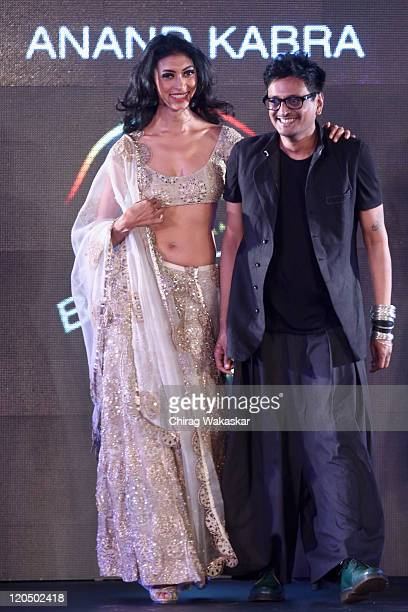 A model walks the ramp with designer Anand Kabra at Blenders Pride Fashion Tour Mumbai Day 2 held at Taj Lands End on August 6 2011 in Mumbai India