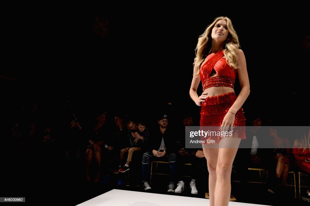 A model walks the rubway at the Sherri Hill NYFW SS18 Runway Show at Gotham Hall on September 12, 2017 in New York City.