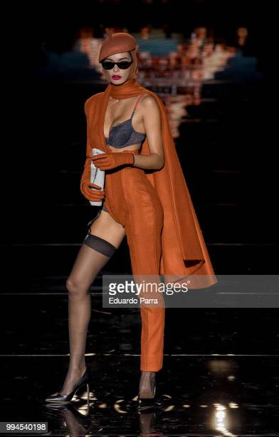 A model walks the runaway at the Andres Sarda catwalk during the Mercedes Benz Fashion Week Spring/Summer 2019 at IFEMA on July 9 2018 in Madrid Spain