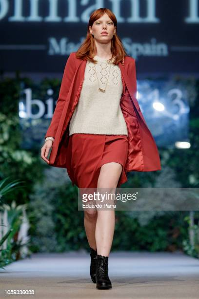 A model walks the runaway during the 'Trece by Bimani 13' catwalk at Real Fabrica de Tapices on October 25 2018 in Madrid Spain