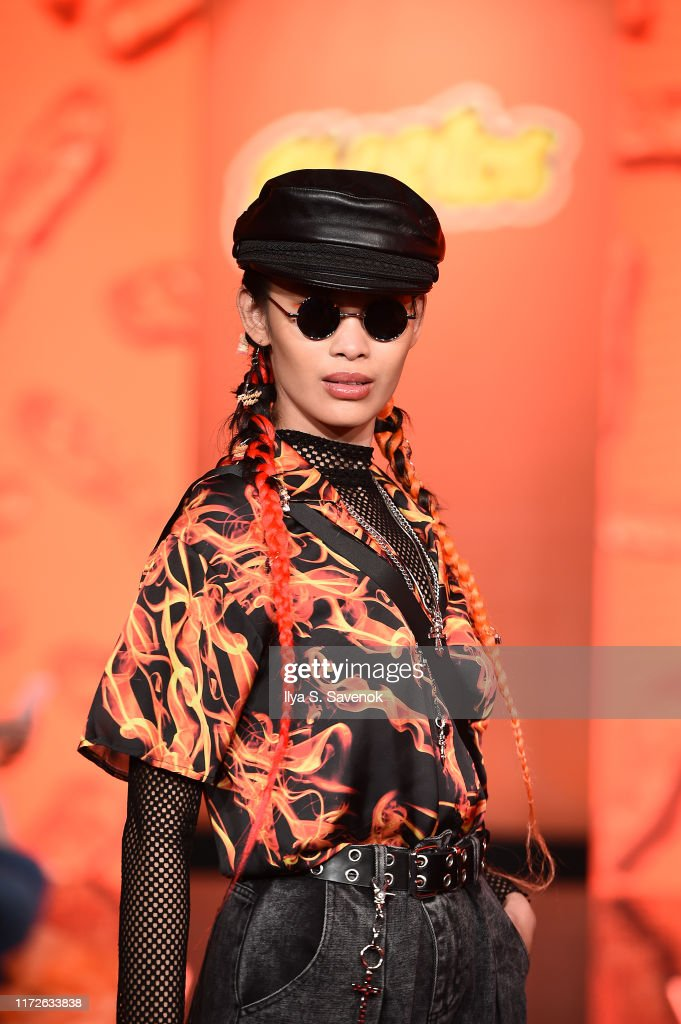 Cheetos Unveils Fan-Inspired Versions Of The #CheetosFlaminHaute Look At The House Of Flamin' Haute Runway Show + Style Bar Experience In New York : News Photo